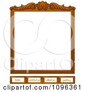Wooden Frame Website Template With Home Contact Us About Us And Gallery Tabs