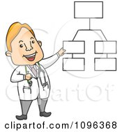 Clipart Male Doctor Explaining A Diagram Royalty Free Vector Illustration