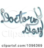 Clipart Stethoscope Cord Spelling Doctors Day Royalty Free Vector Illustration