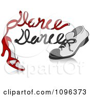 Clipart Red Heel And Mans Dancing Shoes Royalty Free Vector Illustration