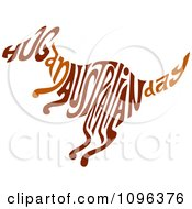 Clipart Brown Hug An Australian Day Text In The Shape Of A Kangaroo Royalty Free Vector Illustration by BNP Design Studio