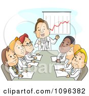 Clipart Male And Female Doctors Discussing Finances In A Meeting Royalty Free Vector Illustration