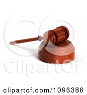 3d Wooden Judge Or Auctioneer Gavel On A Sound Block