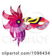 Clipart Colorful Mardi Gras Face Mask With Feathers Royalty Free Vector Illustration by Cherie Reve