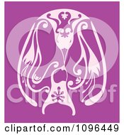Clipart Adult And Baby Penguins Touching Beeks In Purple Royalty Free Vector Illustration by Cherie Reve