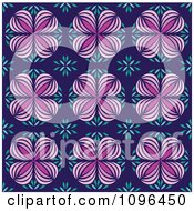 Clipart Seamless Floral Kaleidoscope Background Pattern 1 Royalty Free Vector Illustration