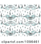 Clipart Seamless Swan Background Pattern Royalty Free Vector Illustration by Cherie Reve