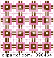 Clipart Seamless Pink Brown And White Background Pattern Royalty Free Vector Illustration