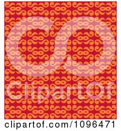 Clipart Seamless Orange And Red Swirl Background Pattern Royalty Free Vector Illustration by Cherie Reve