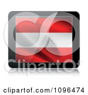Clipart 3d Tablet Computer With An Austrian Flag On The Screen Royalty Free Vector Illustration