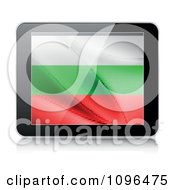 Clipart 3d Tablet Computer With A Bulgaria Flag On The Screen Royalty Free Vector Illustration