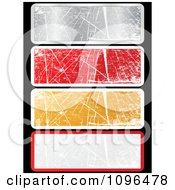 Clipart Grungy Scratched Silver Red Gold And Gray Website Banners Royalty Free Vector Illustration by Andrei Marincas