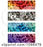 Clipart Four Colorful Dot Website Banners Royalty Free Vector Illustration