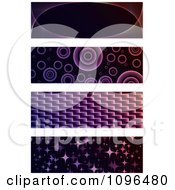 Clipart Purple And Black Website Banners Royalty Free Vector Illustration by Andrei Marincas