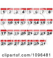 Clipart Calendar Day Icons From 1 To 31 Royalty Free Vector Illustration