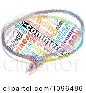 Clipart Colorful E Commerce Word Collage Chat Bubble Royalty Free Vector Illustration
