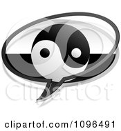Clipart Yin Yang Chat Bubble Royalty Free Vector Illustration