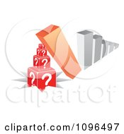 Clipart 3d Bar Graph Tipping Over Onto Questions And Pounding Them In The Ground Royalty Free Vector Illustration by Andrei Marincas