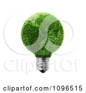 Clipart 3d Grassy Green Globe Light Bulb Featuring Europe And Africa Royalty Free CGI Illustration