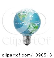Clipart 3d American Light Bulb Globe Royalty Free CGI Illustration