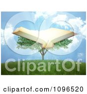 Clipart 3d Tree Of Knowledge With An Open Book And Rays Royalty Free CGI Illustration by Mopic