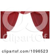 Clipart 3d Read Theater Stage Curtain Frame Royalty Free CGI Illustration by Mopic