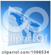 Clipart 3d Blue Word Atlas Map Made Of Tiles Royalty Free CGI Illustration