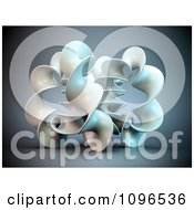 Clipart 3d Abstract Twisty Structure Royalty Free CGI Illustration