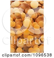 Clipart Background Of 3d Orange Circles Royalty Free CGI Illustration