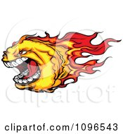 Clipart Screaming Fire Ball Mascot Royalty Free Vector Illustration