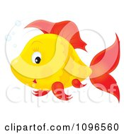 Clipart Happy Orange And Red Fish Royalty Free Illustration by Alex Bannykh