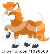 Clipart Brown Pony With Orange Hair Royalty Free Vector Illustration