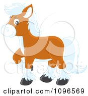 Clipart Brown Pony With White Hair Royalty Free Vector Illustration by Alex Bannykh