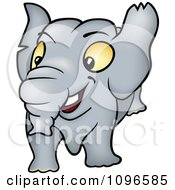 Clipart Happy Elephant Royalty Free Vector Illustration