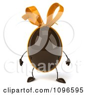 Clipart 3d Chocolate Egg With A Bow Royalty Free CGI Illustration