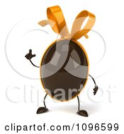 Clipart 3d Chocolate Egg With A Bow With An Idea Royalty Free CGI Illustration