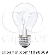 Clipart 3d Incandescent Light Bulb Royalty Free Vector Illustration