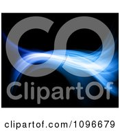 Clipart Blue Fractal Wave On Black Background Royalty Free Illustration by KJ Pargeter