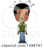 Clipart Drunk Black Adolescent Teenage Boy Royalty Free Vector Illustration