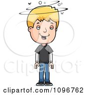 Clipart Drunk Blond Adolescent Teenage Boy Royalty Free Vector Illustration by Cory Thoman