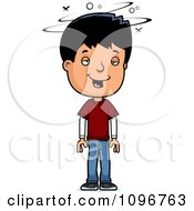 Clipart Drunk Adolescent Teenage Boy Royalty Free Vector Illustration