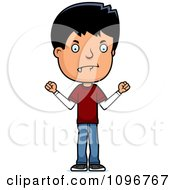 Clipart Mad Adolescent Teenage Boy Royalty Free Vector Illustration by Cory Thoman