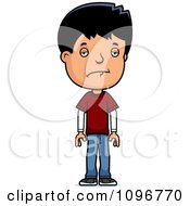 Clipart Depressed Adolescent Teenage Boy Royalty Free Vector Illustration by Cory Thoman