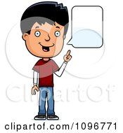 Clipart Adolescent Teenage Boy Talking Royalty Free Vector Illustration by Cory Thoman
