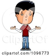 Clipart Careless Adolescent Teenage Boy Shrugging Royalty Free Vector Illustration by Cory Thoman
