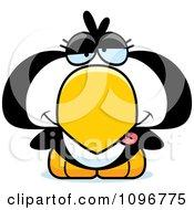Clipart Drunk Penguin Chick Royalty Free Vector Illustration