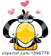 Clipart Penguin Chick In Love Royalty Free Vector Illustration
