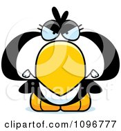 Clipart Mad Penguin Chick Royalty Free Vector Illustration
