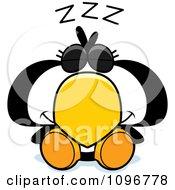 Clipart Sleeping Penguin Chick Royalty Free Vector Illustration
