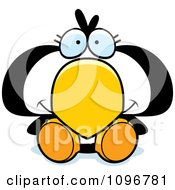 Clipart Cute Penguin Chick Sitting Royalty Free Vector Illustration